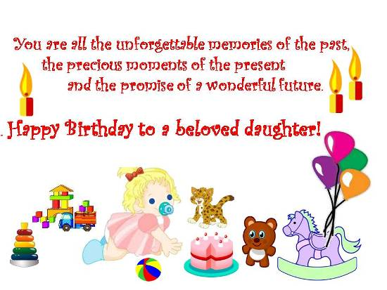 Wish Dear Daughter On Her Birthday
