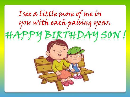 Loving Birthday Wishes For Dear Son Free Son Daughter eCards – Birthday Greeting for Son
