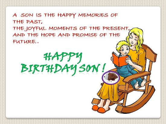 Beautiful B'day Wish For A Dear Son.