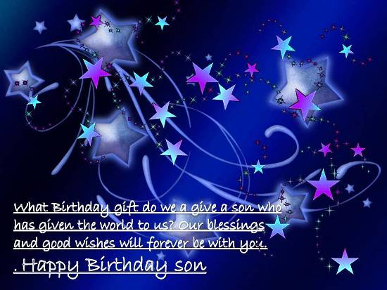Heartfelt Birthday Greetings For Son.