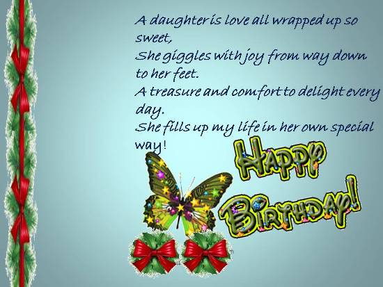 A Birthday Wish For Your Daughter.