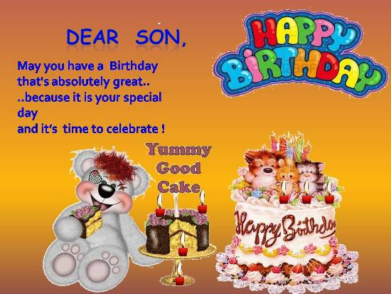 Blessings For A Son On His Birthday.
