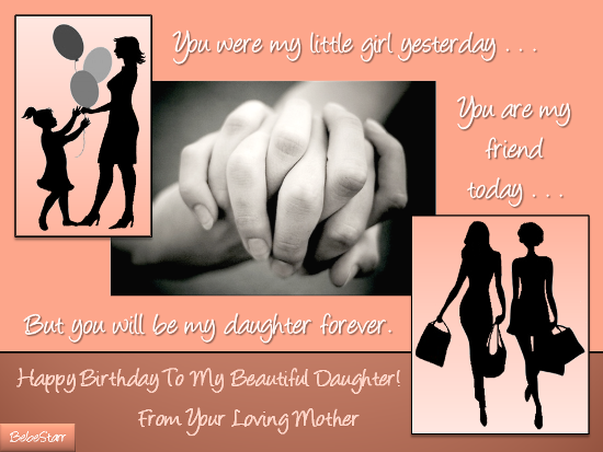 To My Beautiful Daughter Free Son Daughter eCards Greeting – Birthday Cards for Moms from Daughter