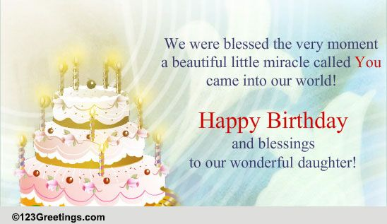 Birthday Wish For Daughter Free Son Daughter eCards – Birthday Greetings for a Daughter from Mother