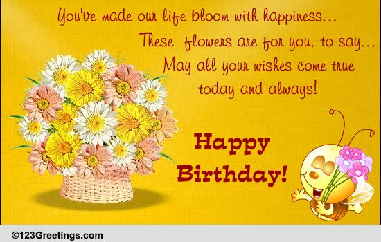 Birthday Wish For Your Child Free For Son Amp Daughter