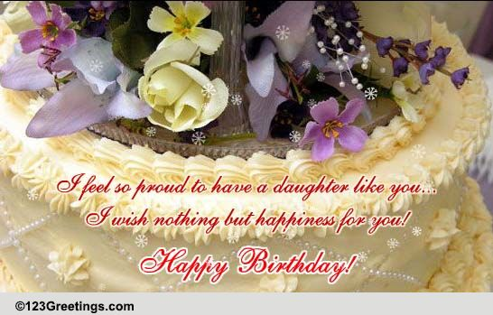 for my dear daughter free son  daughter ecards, greeting cards, Birthday card
