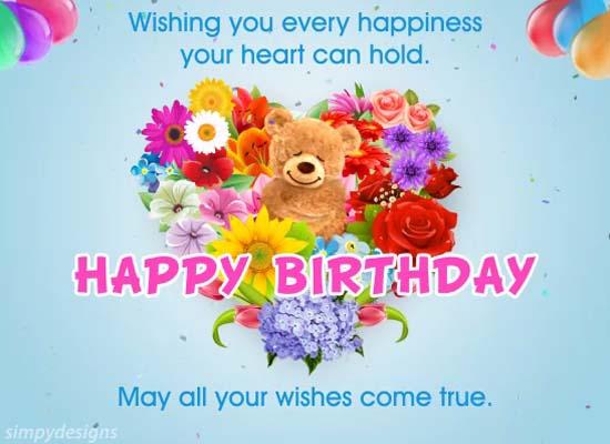 Birthday Son Daughter Cards Free Birthday Son Daughter Wishes – Happy Birthday Cards for Daughter