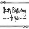 Happy Birthday To You - Arrows.