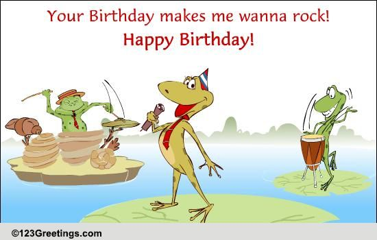 Crazy Singing Frogs Free Songs ECards Greeting Cards