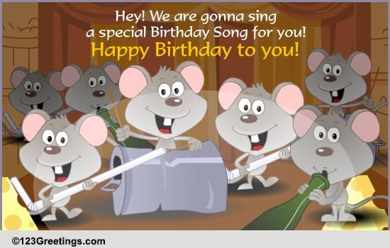 a special birthday song free songs ecards, greeting cards, Greeting card