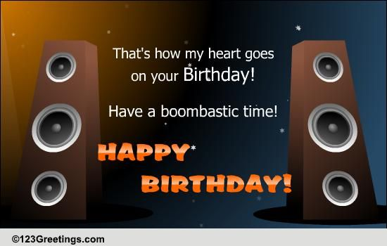 Birthday Beats Free Songs Ecards Greeting Cards 123