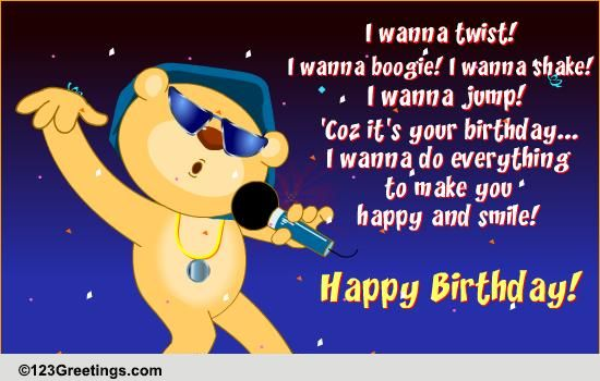 Birthday Dj Performing Live Free Songs eCards Greeting Cards – Happy Birthday Card with Song