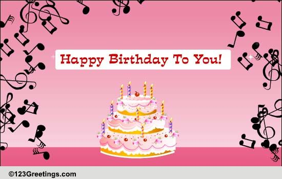 Hear the birthday song free songs ecards greeting cards