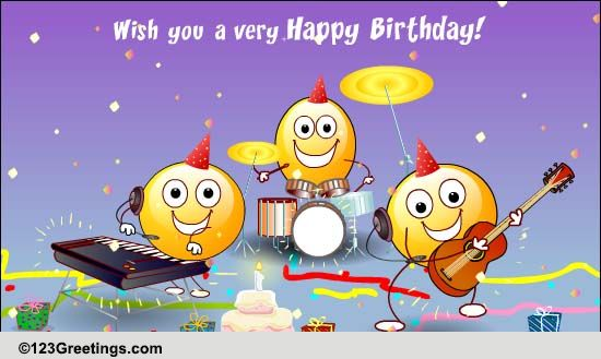 the happy song free songs ecards, greeting cards   greetings, Birthday card