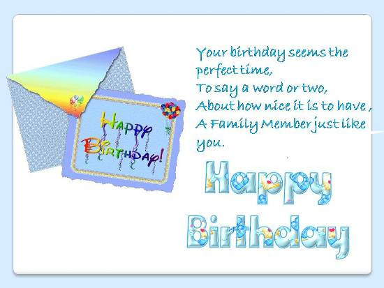 B'day Greetings For Someone Special.