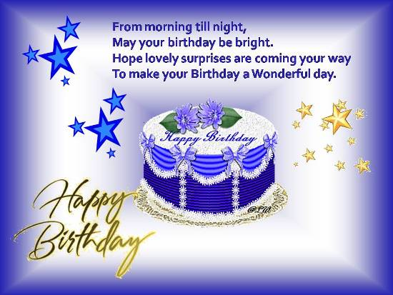 Special Birthday Wish For A Dear One.