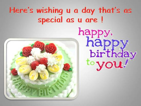 Special Birthday Msg For Loved One.