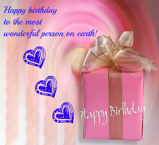 Happy Birthday With Gift And Love Free Specials ECards Greeting