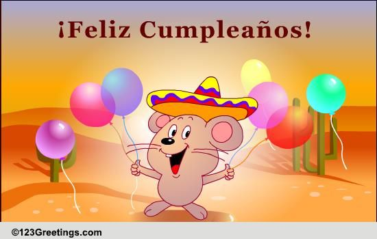 Happy Birthday Wish In Spanish Free Specials ECards Greeting Cards