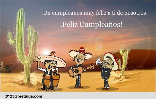 A Cool Spanish Birthday Wish Free Specials Ecards Greeting Cards