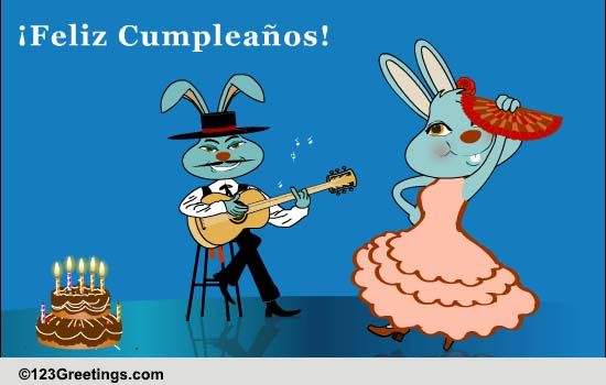 Spanish Birthday Dance Free Specials ECards Greeting Cards