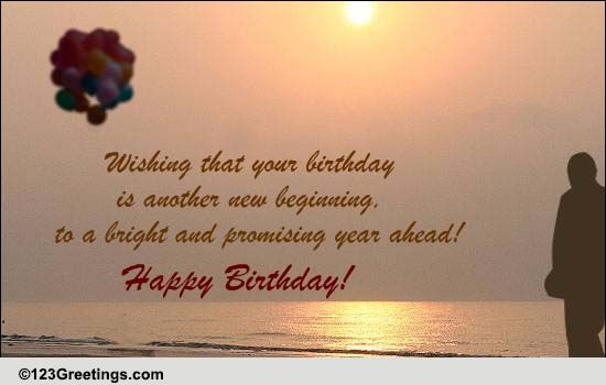 A Birthday Is Another New Beginning Free Specials