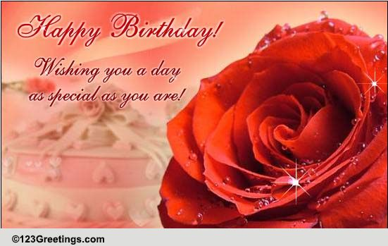 Roses To Wish A Happy Birthday Free Specials ECards Greeting Cards
