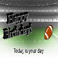 Football Theme Birthday Wishes.