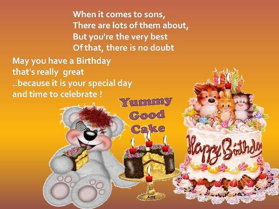 Warm Birthday Greetings For Your Son