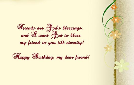 Friends Are God's Blessings.