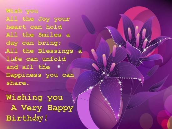 Special Birthday For A Special Person Free Birthday Wishes eCards – Special Birthday Greeting