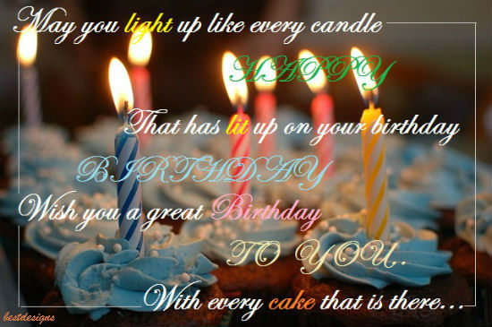Birthday Wishes With Candle Lights Free Birthday Wishes eCards