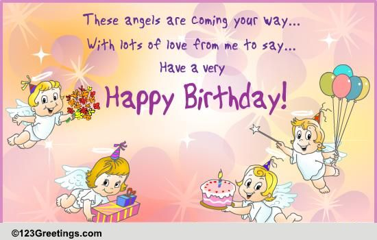 Birthday Angels! Free Birthday Wishes eCards, Greeting Cards  123 Greetings