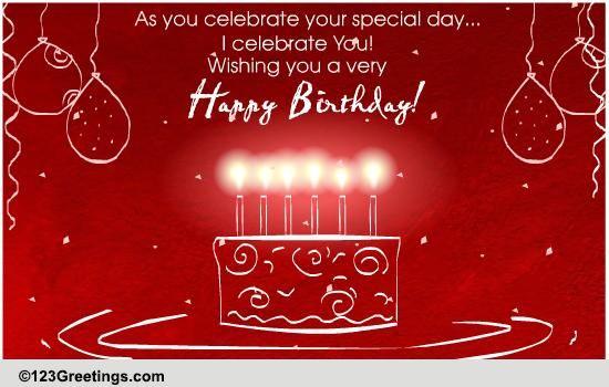 A Birthday Celebration Free Birthday Wishes Ecards