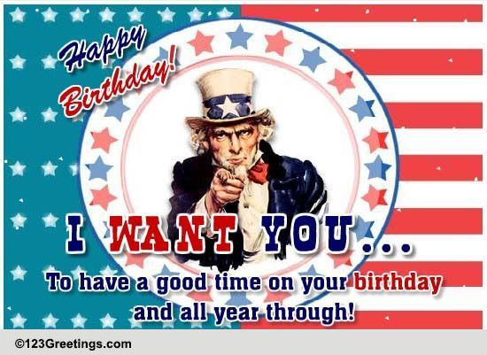 Uncle Sam S Birthday Wish Free Birthday Wishes Ecards
