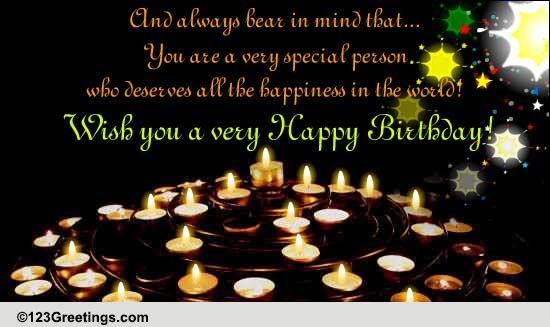 Very Special Person Free Birthday Wishes Ecards Greeting