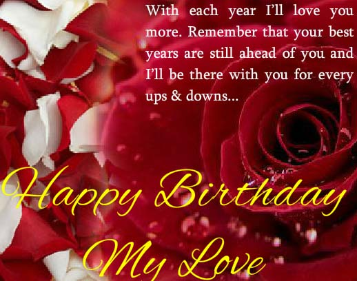 A Birthday Card For Your Love Free Wishes Ecards 123