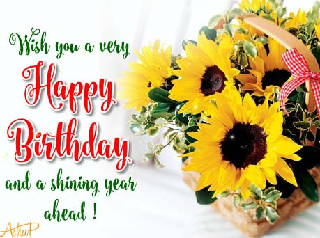 Sunny Birthday Flowers Amp Wishes Free Birthday Wishes