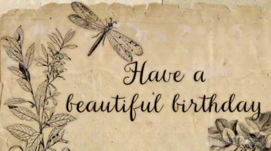 Vintage Happy Birthday Wishes Free Birthday Wishes Ecards