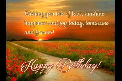 Love Sunshine Joy And Happiness Free Birthday Wishes