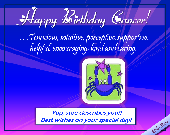 Happy Birthday Caring Cancer!