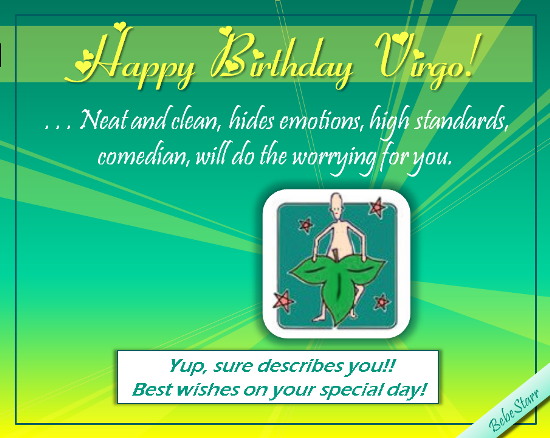 Happy Birthday Virgo, The Virgin!