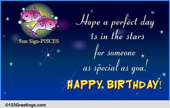 Happy Birthday Pisces Free Zodiac Ecards Greeting Cards