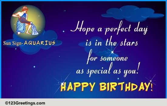 Happy Birthday Aquarius! Free Zodiac eCards, Greeting Cards