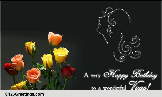 Beautiful Flowers For Virgo Free Zodiac Ecards Greeting