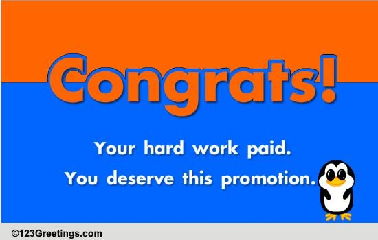 You Deserve This Promotion! Free Congratulations ECards