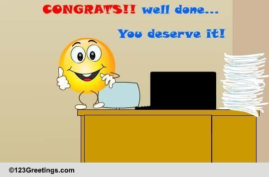 congrats  you deserve it  free congratulations ecards  greeting cards
