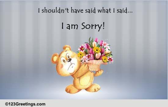 i shouldn u0026 39 t have said    free apologies ecards  greeting