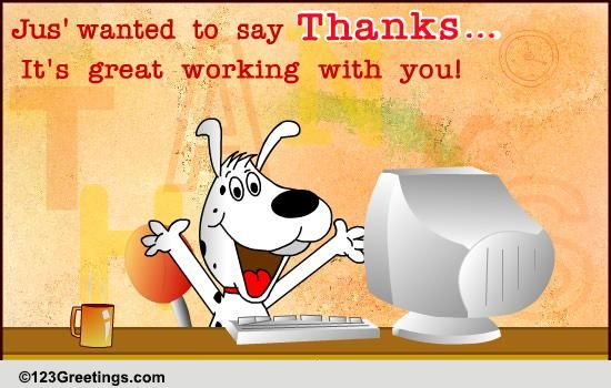 Great Working With You Free Appreciation Encouragement Ecards