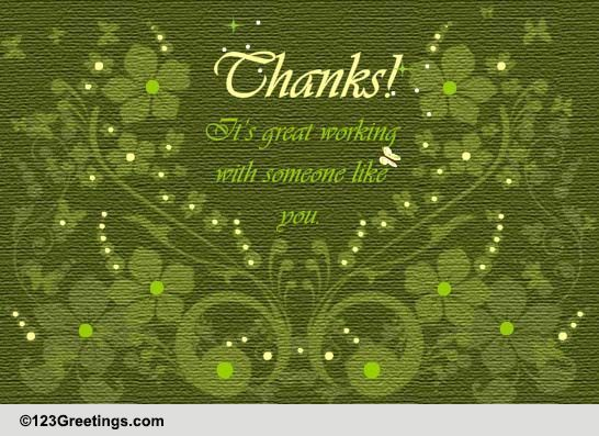 It S Great Working With You Free Appreciation